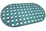 ALL PRIDE Bathtub and Shower Mat, Non Slip, Machine Washable, Perfect Bath Mat for Tub and Shower for Kids and Elderly, 29 x15 Inch, Big Hole, Dark Green