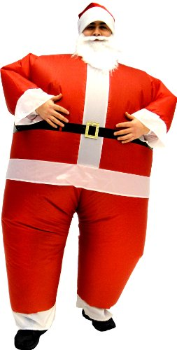 Santa Claus Inflatable Chub Suit Costume With Beard and Hat