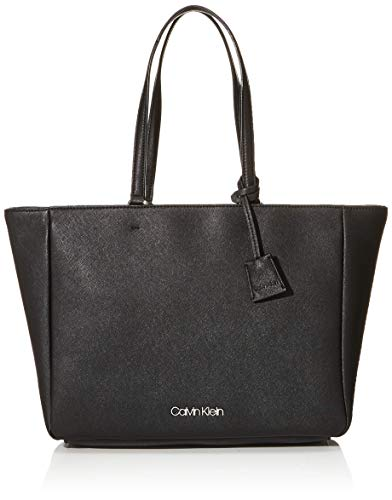 Calvin Klein Worked Shopper - Borse Tote Donna, Nero (Black), 13x27x47...