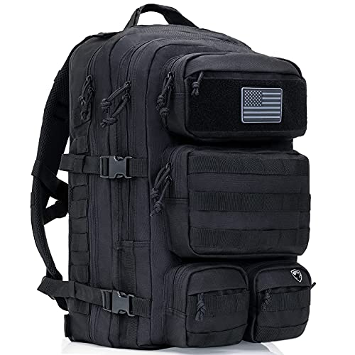 Tactical Backpack For Men - Military Backpack - Bug Out Bag - 50L Waterproof