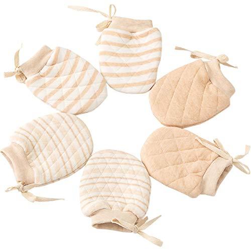 LOVARTS BEAUTY LOVARTS BEAUTY 3 Paare Baby Mädchen Junge Handschuhe gegen Kratzen - Herbst Winter Neugeborene Kratzhandschuhe aus Baumwolle,Einstellbarem Band, Warmer