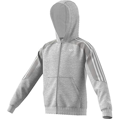 adidas Jungen Outline Hoodie Sweatshirt, medium Grey Heather/White, 11-12Y