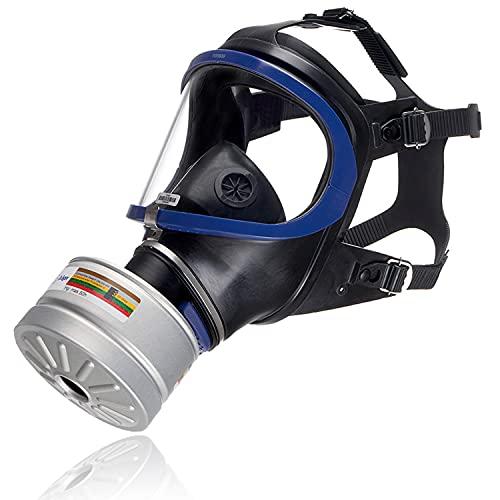 Dräger X-plore® 6300 Masque intégral de Protection complète avec Un Filtre A2B2E2K2 HG P3 R D de Filetage Rd40, Masque à gaz pour des travaux Chimiques et Construction
