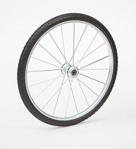 """Lapp Wheels 20"""" to 26″ Flat Free Heavy Duty Metal Spoke Wheels,3/4-5/8 Bearing Size (26X1.95 Tire,4'' hub,5/8 axle Bearing)"""