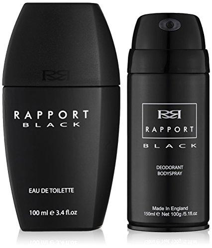 Eden Classics Rapport Black Eau de Toilette 100 ml + 150 ml Body Vaporisateur cadeau Set pour lui, 1er Pack (1 x 100 ml)