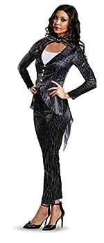 Disguise mens Disney Women s Jack Skellington Deluxe Adult Sized Costume Multi S 4-6 US