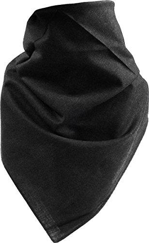Harrys-Collection Unisex Bandana Bindetuch 100% Baumwolle (1 er 6 er oder 12 er Pack), Farbe:uni schwarz