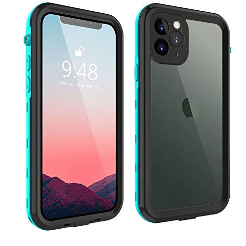 iPhone 11 Pro Max Case, 11 Pro Max Waterproof Clear Case Cover with Screen Protector Full Body 360 Degree Shockproof Cases for Girls Silicone Bumper for iPhone 11 Pro Max 6.5 2019 (Teal)
