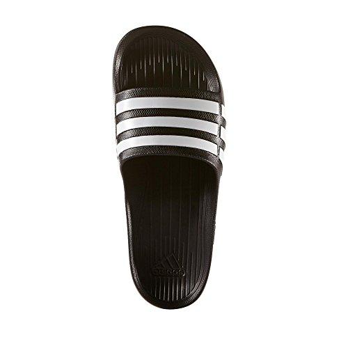 adidas Duramo Slide, Chanclas Unisex Adulto, Negro (Black/White/Black), 38 EU