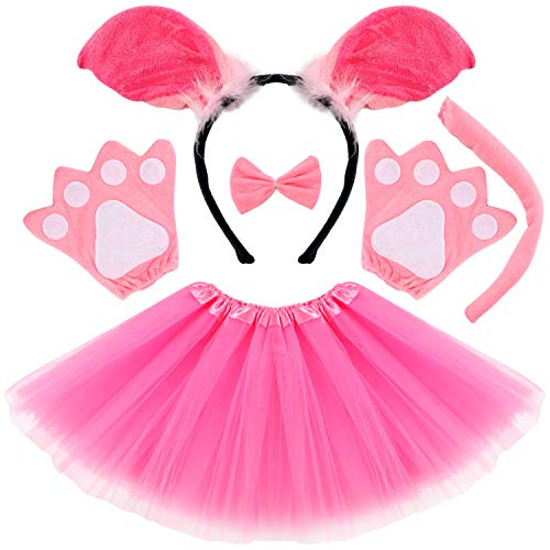 Vamei disfraz de nios animal Diadema de animal Bowtie Tail Guantes Tutu Set para nios Halloween Dress Up 5 piezas