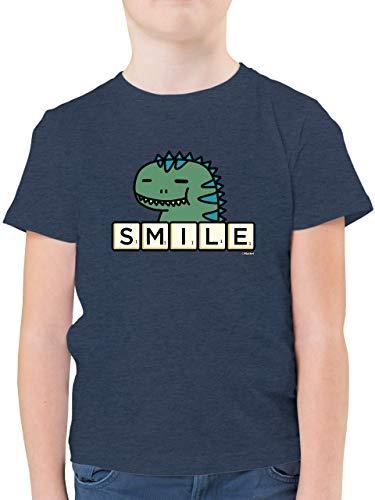 Scrabble Jungen - Smile - 116 (5/6 Jahre) - Dunkelblau Meliert - F130K_Shirt_Jungen - F130K - Kinder Tshirts und T-Shirt für Jungen