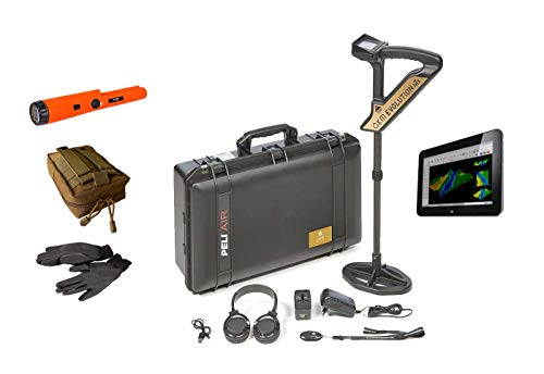OKM Evolution NTX 3D Scanner Metal Detector + Windows Tablet PC and Visualizer 3D Software Metal Detector and Gold Treasure Hunter - 3D Metal Ground Scanner