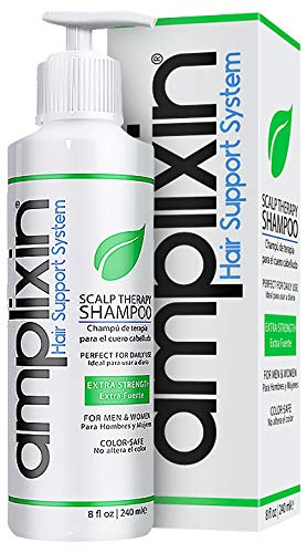 Amplixin Scalp Therapy Shampoo - Dry, Itchy Scalp Treatment With Tea Tree Oil For Men & Women - Anti Dandruff, Psoriasis & Seborrheic Dermatitis Prevention Formula - Sulfate & Paraben Free, 8Oz