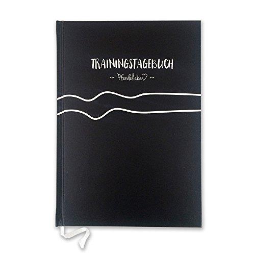 PferdeliebeTrainingstagebuch Black Beauty immerwährend DIN A5 plus Sticker