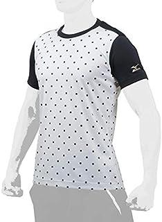 ミズノ グローバルエリート Tシャツ 12JA7T32 (01)ホワイト×ブラック L