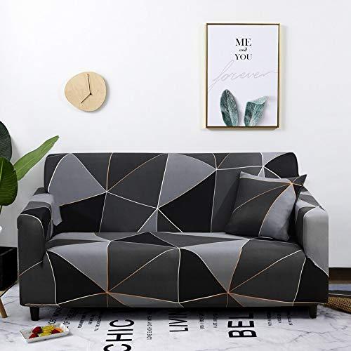 WXQY Sala de Estar geométrica combinación de Funda de sofá elástica en Forma de L sofá de Esquina Funda Protectora Antideslizante Funda de sofá elástica A29 1 Plaza