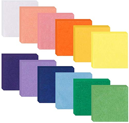 4800pcs 1inch Tissue Paper Squares, Tissue Paper for Crafts, Colored Tissue Paper, 12 Assorted Colors for Kids Craft DIY Origami Paper Art