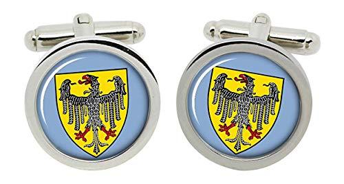 Gift Shop Aachen (Deutschland) Manschettenknöpfe in Chrom Kiste