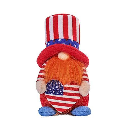 Patriotische Gnome Puppe, US.s. Flag Unabhängigkeit Tag Patriotischer Gnome Amerikanische Präsident Wahldekoration Geschenk Stars Stripes Handgemachte skandinavische Plüschschmuck Spielzeug Wohnkultur