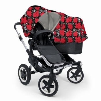 For Sale! Bugaboo Donkey DUO Stroller WITH Andy Warhol Fabric (Black Base)