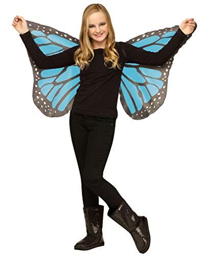 Horror-Shop Enfants turquoise ailes de papillon