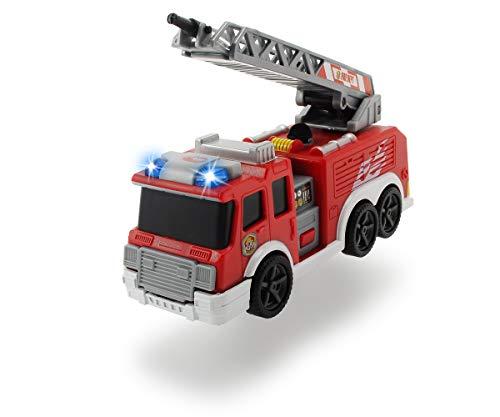 Dickie Toys Fire Truck, brandweerauto, speelgoed, brandweer, met waterspatfunctie, uittrekbare ladder, licht & geluid, incl. batterijen, 15 cm, vanaf 3 jaar