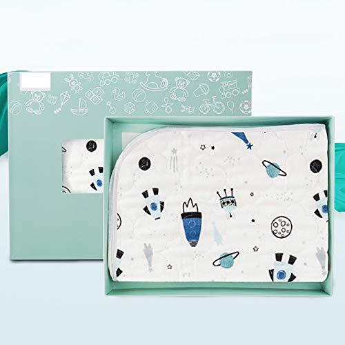 GESS Baby waterdichte wasbare verzorging luier pad, oversized katoen ademende matras, comfortabele warme delicate gift box verpakking