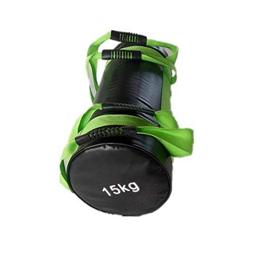 QUUY Power Bag Fitness Sandsack Verstellbar 15 KG Gewichtssack Sandbag Fitness Mit Griffen, Heavy Duty Workout Sandsack Krafttraining Sandsack Für Muskeltraining, Zufällige Farbe