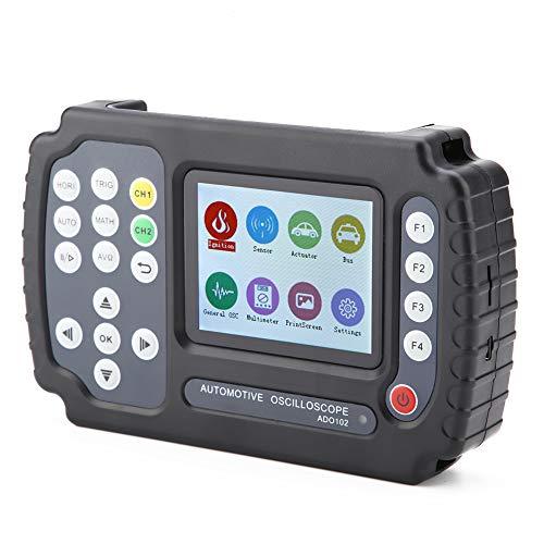 Multímetro de rango automático, osciloscopio digital multímetro, osciloscopio automotriz de mano, ADO102, canal analógico dual para automoción(European regulations)