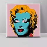 Geiqianjiumai Art Deco Multicolor Artwork Kunstwerk Wandbild Rahmenloses Gemälde 60x60cm