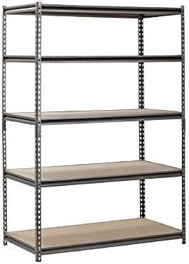 Muscle Rack 5 Shelf Steel Shelving Silver Vein 24 D x 48 W x 72 H product image