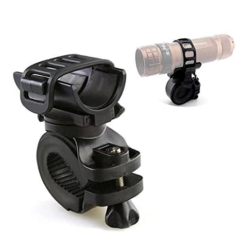 NiceJoy 360 Grad Fahrrad Taschenlampe Halter Radfahren Fahrrad Fahrradhalterung Halterung für LED-Taschenlampe Taschenlampe Clip Clip Reiten Radfahren