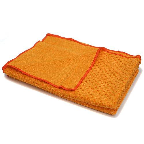 Lotus Design Yoga-Handtuch/Yogamattenauflage Yoga Towel, rutschfest mit Noppen, für besten Grip bei Hot Yoga und Asthanga, Sport-Tuch aus 100% Microfaser saugfähig, antibakteriell, hautfreundlich