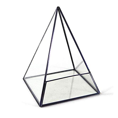 Terrarium Modernes Glasterrarium Aufbewahrungsbehälter-Pyramide aus Metall mit Glas Succulents Terrarium Container for Sukkulenten, Tillandsien, Kerzenhalter