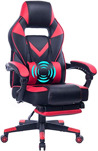 HEALGEN Big and Tall Gaming Chair with Footrest PC Computer Video Game Chair...