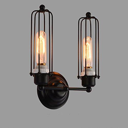 Wandlamp met een creatieve ijzeren kooi voor retro café restaurant bar licht loft industrie wind en slaapkamer