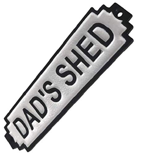 Plaque HAND MADE DADS SHED SIGN MAN CAVE RETRO STYLE DAD