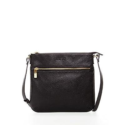 SUSU The Saxon Leather Crossbody Bag For Women Cross Over Purse Messenger Bags Cross Body Handbag