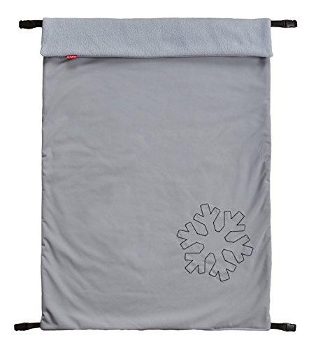ByBoom® Copertina termoattiva in softshell per la carrozzina; copertina funzionale/universale/da outdoor per bebè, Colore:Grigio/Grigio
