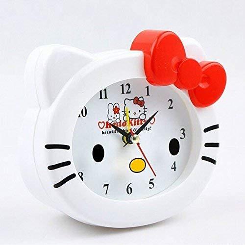 Sveglia Kawaii Hello Kitty Sveglia da Tavolo Orologi da scrivania Regalo di Compleanno per Bambini