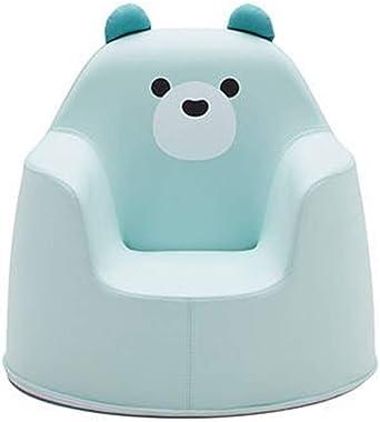 "iloom Polar ACO Infant Kids Children Sofa, Baby Sofa, Toddler Sofa, Children Sofa, Kids Couch Armrest Chair, Upholstered Living Room Furniture, Playroom Furniture, 19.6"" x 19.6"" x 18.8"", Blue (Bear)"