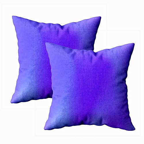 Juego de 2 fundas de almohada para exteriores, 45,7 x 45,7 cm, diseño original, lila, degradado, decoración del hogar, fundas de almohada con cremallera, fundas para sofá y sofá