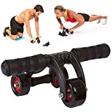 ZURATO Ab Roller Wheel Abs Carver for Abdominal & Stomach Exercise Training with Mat, Ab Roller Wheel Exercise Equipment, Ab Roller for Home Gym, Ab Machine for Ab Trainer
