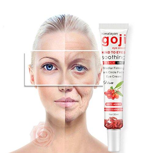 Huihong Dunkle Kreise Creme, Augencreme Falten Tief Befeuchtend  Augencreme Goji Beere Essenz Anti-Aging Hydratation Formel