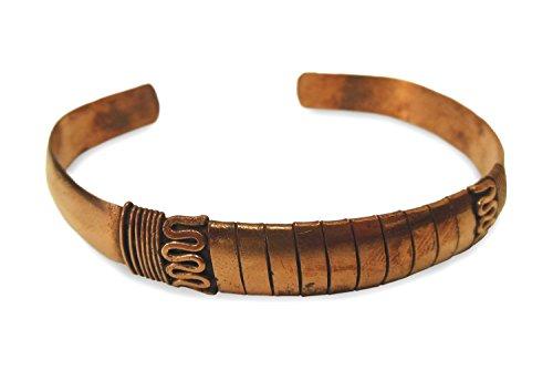 Schmuck Armreif aus Kupfer Metall glatt poliert, Metall Armband Armschmuck Armreifen handgefertigt mit Designmotiv