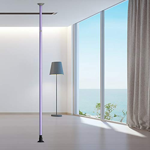 GOFLAME Dancing Pole, Portable Dance Stripping Pole, Full Kit Home Modern Removable Fitness Pole, Height Adjustable Dancing Pole with Carrying Bag for Club Party Home Gym (Purple)