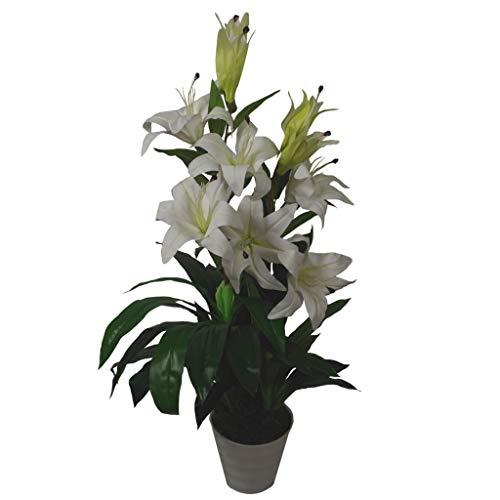 Leaf LEAF-7251 Feuille de 90 cm de Large Fleurs artificielles Style étoilé Blanc, 90cm White