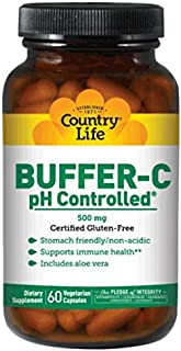 Country Life Buffer-C, pH Controlled, 500 mg , Veg Caps, 60-Count
