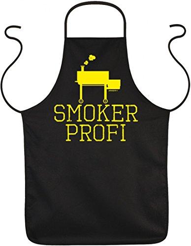Infinite Outfits Schürze zum Grillen - Smoker Profi - witzige Geschenk-Idee für humorvolle Griller im Set mit lustiger Urkunde
