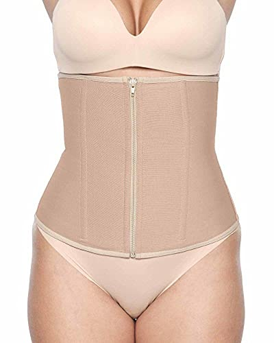 Bellefit Abdominal Binder w/Zipper (Large) Beige